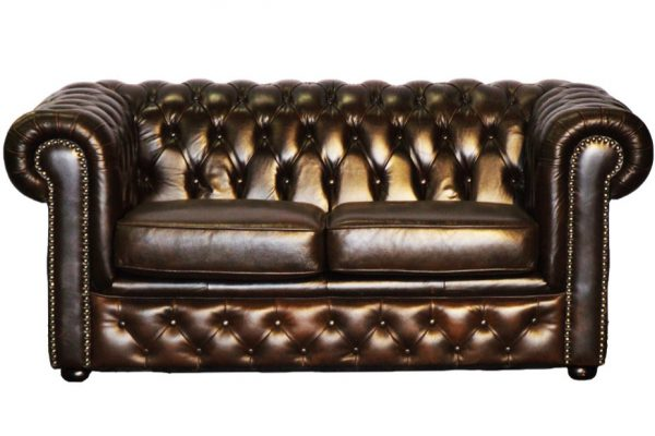 Bank Chesterfield 2-zits donkerbruin